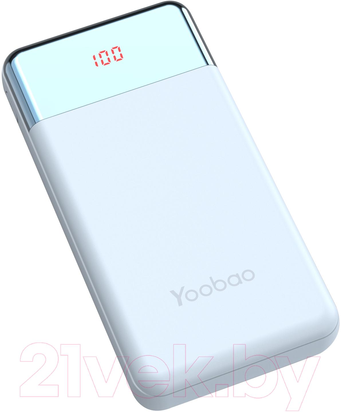 Купить Портативное зарядное устройство Yoobao, Power Bank PD 30W (синий), Китай