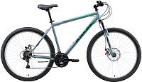 Велосипед Black One Onix 29 D Alloy (22, серый/зеленый/черный) -