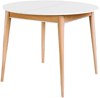 Обеденный стол ТехКомПро Арека К950 Ножка 8 (бук/тон 1/тон царги/тон 2) -