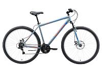 Велосипед Black One Onix 29 D (18, серый//оранжевый/голубой) -