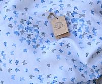 Пеленка Пеленкино Крошечке / Mus19002 (бабочки, синий) -