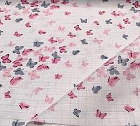Пеленка Пеленкино Крошечке / Mus19002 (бабочки, розовый) -