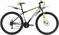 Велосипед Black One Onix 27.5 D (22, серый/черный/зеленый) -