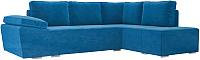 Комплект мягкой мебели Лига Диванов Хавьер правый / 101248 (велюр синий) -