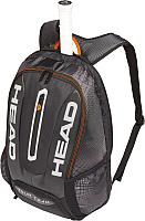 Рюкзак теннисный Head Team Backpack / 283149 (черный/серебристый) -