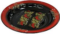 Блюдо СтальЭмаль С0808.08 (красный/черный с орнаментом) -