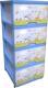 Комод пластиковый Dunya На лужайке / 0403-9 (голубой) -