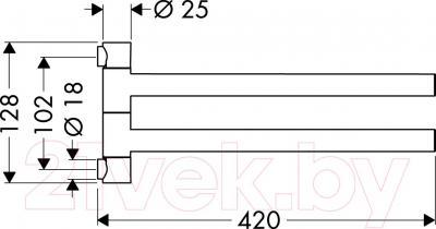 Держатель для полотенца Hansgrohe Citterio 40820000 - схема