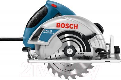 Профессиональная дисковая пила Bosch GKS 65 Professional (0.601.667.000) - вид сбоку
