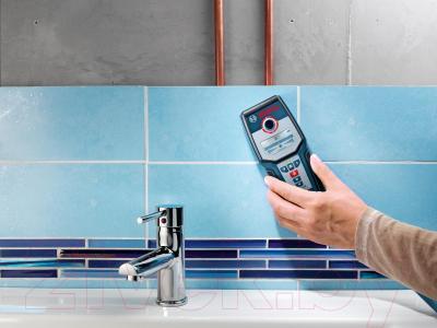 Детектор скрытой проводки Bosch GMS 120 Professional (0.601.081.000) - в работе