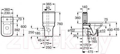 Комплектующее для сантехники Roca Dama-N A341782000
