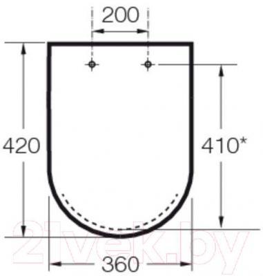Сиденье для унитаза Roca Hall A801622004 (белый) - габаритыне размеры