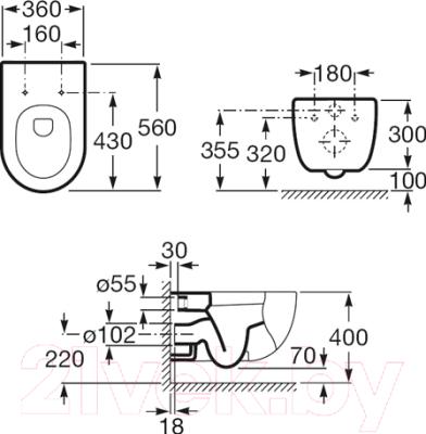 Унитаз подвесной Roca N-Meridian A346247000