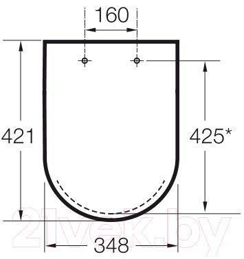 Сиденье для унитаза Roca Viсtoria 05 А801390004 (белое) - габаритные размеры