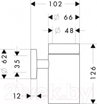 Стакан для зубных щеток Hansgrohe Logis 40518000 - схема
