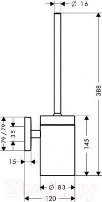 Ершик для унитаза Hansgrohe PuraVida 41505000 - схема