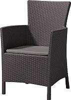 Кресло садовое Keter Iowa DC Brn + Cus Wm Taupe 4 cm 020 Std / 215520 (коричневый) -
