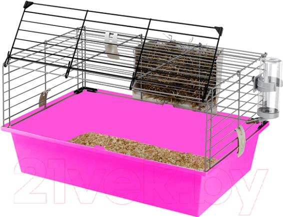 Купить Клетка для грызунов Ferplast, Cavie 60 / 57012411W2 (розовый), Италия