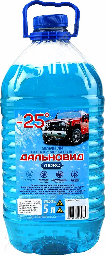 Купить Жидкость стеклоомывающая Дальновид Люкс, Зима -25 (5л), Беларусь, зима