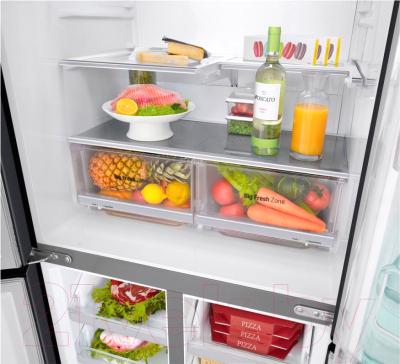 Холодильник с морозильником LG GC-Q22FTBKL