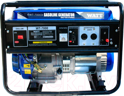 Бензиновый генератор Watt WT-7000 (9.070.025.01)