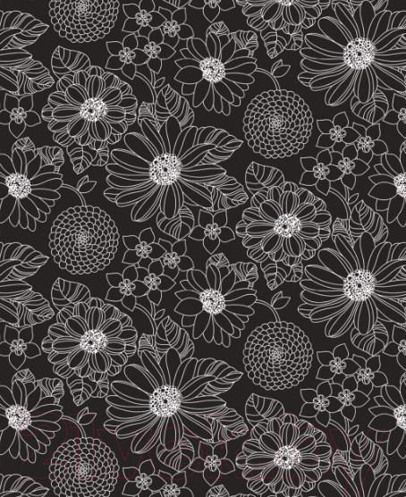 Купить Простыня Samsara, Black Flowers 90Пр-4, Беларусь