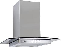 Вытяжка Т-образная Elikor Кристалл 60Н-430-К3Д (нержавеющая сталь/тонированное стекло) -