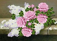 Набор для вышивания Наследие Букет из розовых роз и сирени / НЛ3-029 -