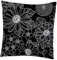 Наволочка Samsara Black Flowers 5070Н-4 -