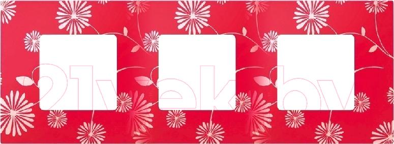 Купить Рамка для выключателя Simon, 2700637-803 (красный, белый), Россия, пластик, Simon 27 Play (Simon)