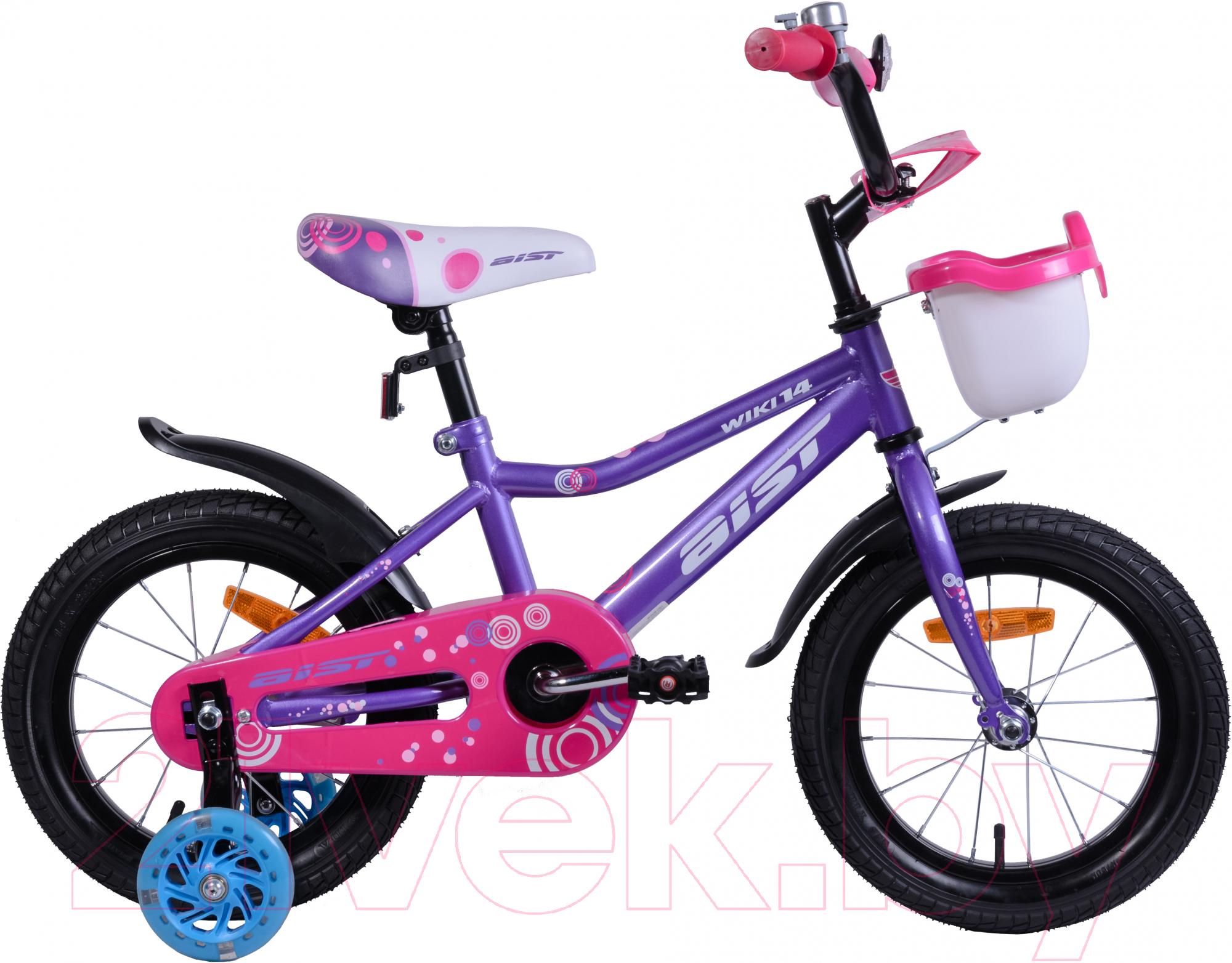 Детский велосипед AIST, Wiki 2019 (14, фиолетовый), Беларусь  - купить со скидкой