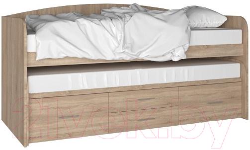 Двухъярусная кровать Артём-Мебель, СН 108.02 (дуб сонома), Беларусь  - купить со скидкой