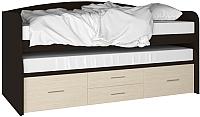 Двухъярусная кровать Артём-Мебель СН 108.02 (сосна/венге) -