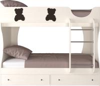 Двухъярусная кровать детская Артём-Мебель СН 108.01 (венге/сосна) -