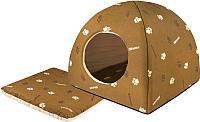 Домик для животных Дарэлл Юрта / RP9632 (коричневый) -