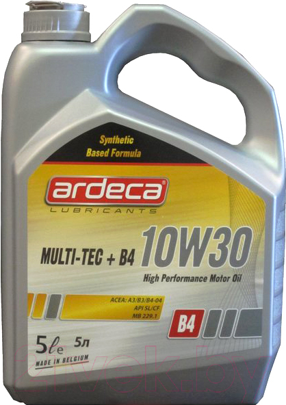 Купить Моторное масло Ardeca, Multi-Tec+ B4 10W30 / P03061-ARD005 (5л), Бельгия