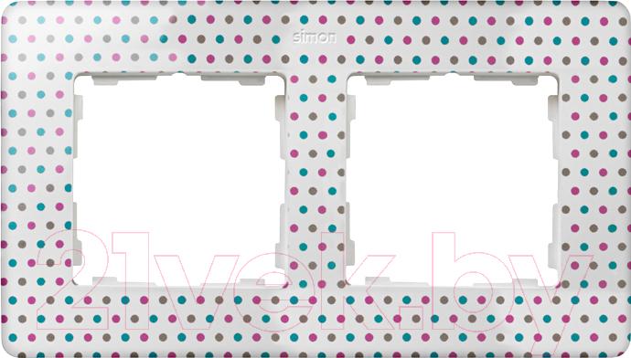 Купить Рамка для выключателя Simon, 8200620-210 (цветной горошек), Россия, дюропласт, Simon 82 Original (Simon)
