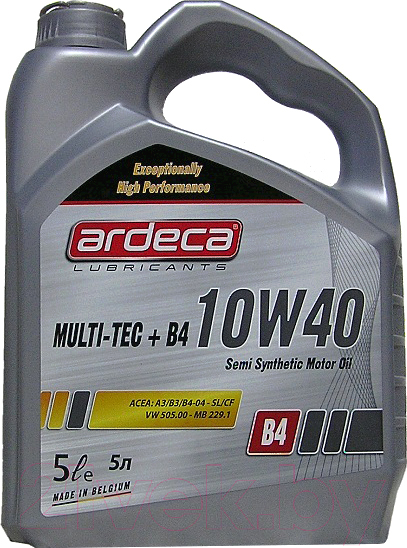 Купить Моторное масло Ardeca, Multi-Tec+ B4 10W40 / P03021-ARD005 (5л), Бельгия