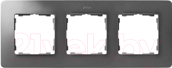 Купить Рамка для выключателя Simon, 8200630-093 (хром-алюминий металл), Россия, дюропласт, Simon 82 Detail Original (Simon)
