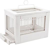 Клетка для птиц ZooM Ретро-кантри / RP8760бел -