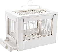 Клетка для птиц ZooM Ретро-кантри / RP8763бел -