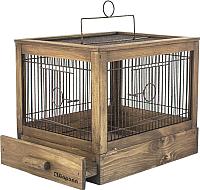 Клетка для птиц ZooM Ретро-кантри / RP8763пал -
