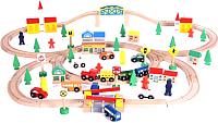Железная дорога детская Wooden Toys Деревянная -