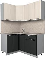 Готовая кухня Интерлиния Мила Лайт 1.2x1.5 (вудлайн кремовый/антрацит) -
