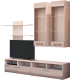 Стенка Горизонт Мебель Ненси 2 (МДФ, ясень/какао перламутр глянец) -