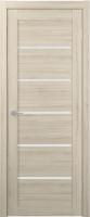 Дверь межкомнатная Юркас Stark ST1 90x200 (мателюкс/капучино) -