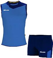 Форма волейбольная Mikasa MT244-0100-L (темно-синий/синий) -