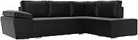 Комплект мягкой мебели Лига Диванов Хавьер правый / 101271 (экокожа черный) -