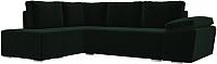 Комплект мягкой мебели Лига Диванов Хавьер левый / 101243 (велюр зеленый) -