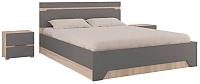 Комплект мебели для спальни Горизонт Мебель Анталия (сонома/графит софт) -